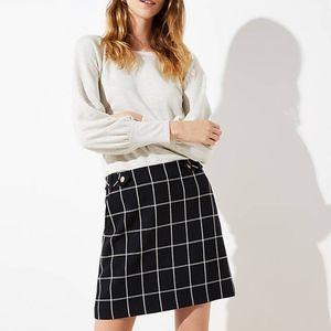 NWT Plaid Button Pocket Skirt